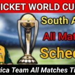 South Africa Team Schedule In World Cup 2019 (All Matches)